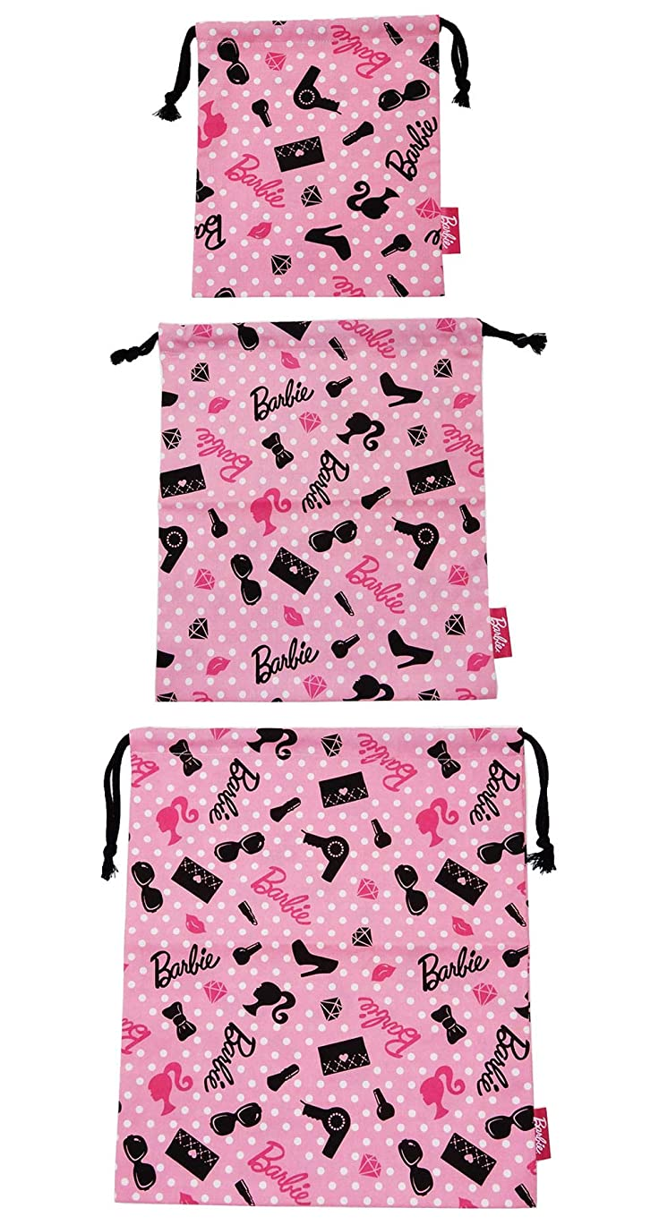 救い故障中捧げるバービー 巾着3種セット コップ 給食袋 エプロン 体操服 巾着 新入学 準備 fo-mrys01