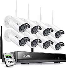ZOSI 8CH 1080P Wireless Security Cameras System With 1TB Hard Drive,H.265+ 8Channel 1080P..