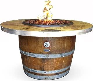 Authentic Wine Barrel Fire Pit - Vintage Wine Box Top