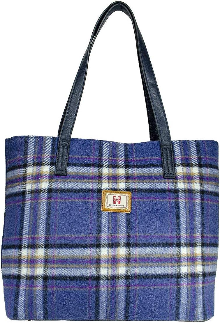 STRATHURIE Large Shopper Handbag Free Shipping New Chicago Mall Tartan