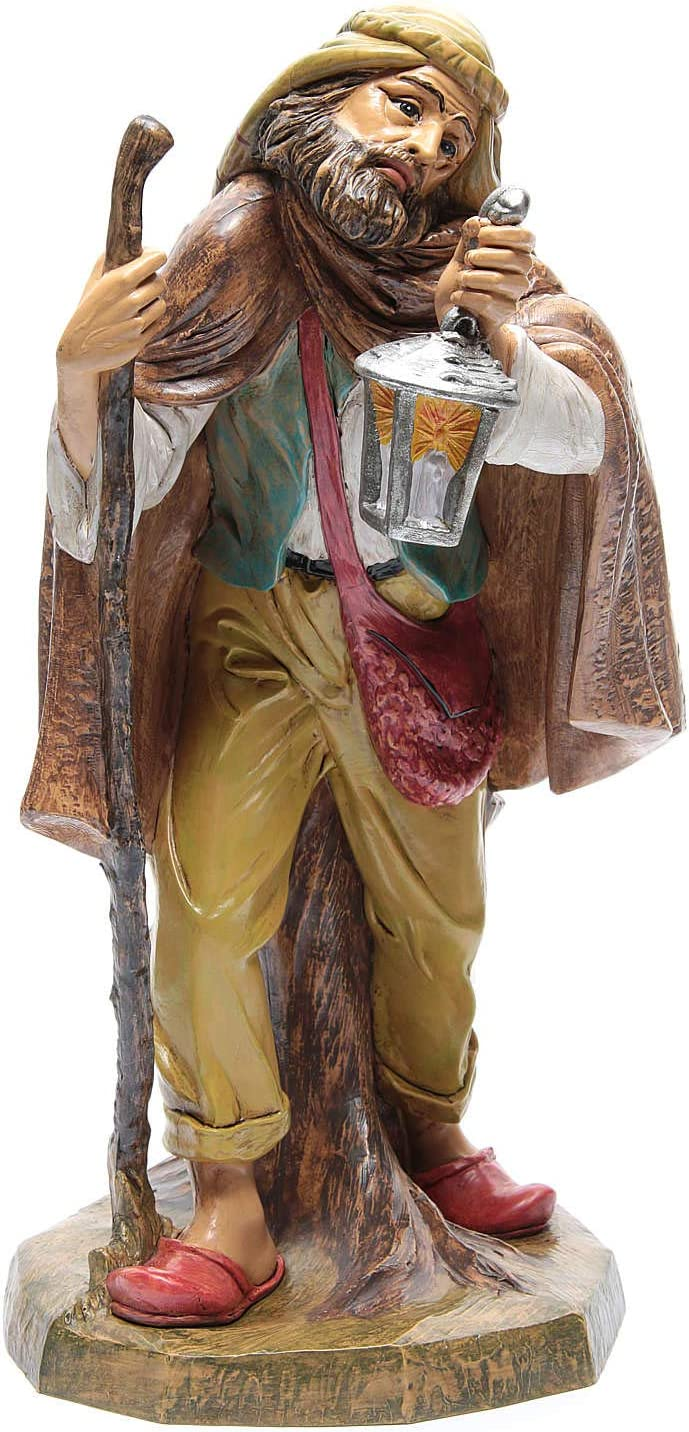 Holyart Nativity Max 71% Limited time for free shipping OFF Scene Statue Shepherd 45 Lantern cm with