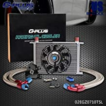 """25 ROW AN-10 Engine Transmission Oil Cooler Kit Clamps + Oil Cooler Sandwich Plate Kit + 7"""" Radiator Cooling Fan For LS1 LS2 LS3"""