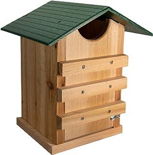 JCs Wildlife Screech Owl or Saw-Whet Owl House Cedar Nesting Box with Poly Lumber Roof