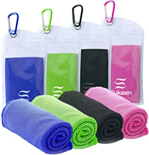 """[4 Pack] Cooling Towel (40""""x12""""),Ice Towel,Soft Breathable Chilly Towel,Microfiber Towel for Yoga,Sport,Running,Gym,Workou..."""