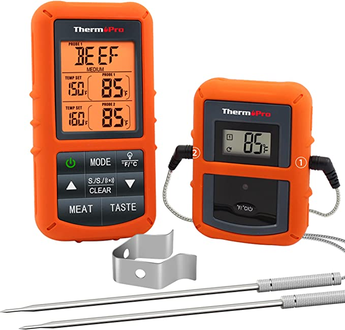 ThermoPro TP20 Wireless Remote Digital Meat Thermometer - Easy to Set Up