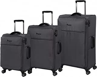 it luggage The Lite Anti-Theft 3pc 8Wh Semi Expanding Soft Trolley Cases