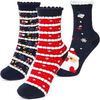 Wishstar, Calcetín Lindos para Navidad, Calcetines Mujer Navida, Adecuado para Regalos para Novia, Cumpleaños, San Valentín, Navidad