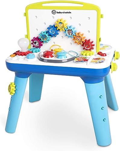 Baby Einstein, Table d'éveil musicale et lumineuse Curiosity Table, avec 65 Mélodies, Pieds Amovibles, Lumières, à pa...