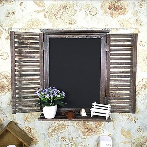 MENA Home Alte h erne Weißese-Mitteilung Anmerkungen Tafel-kreative h erne Fenster-Wand-Dekoration h ende Regale-Schutz