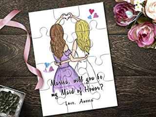 Personalized Will You Be My Maid of Honor Puzzle, Asking Maid of Honor, Maid of Honor Proposal