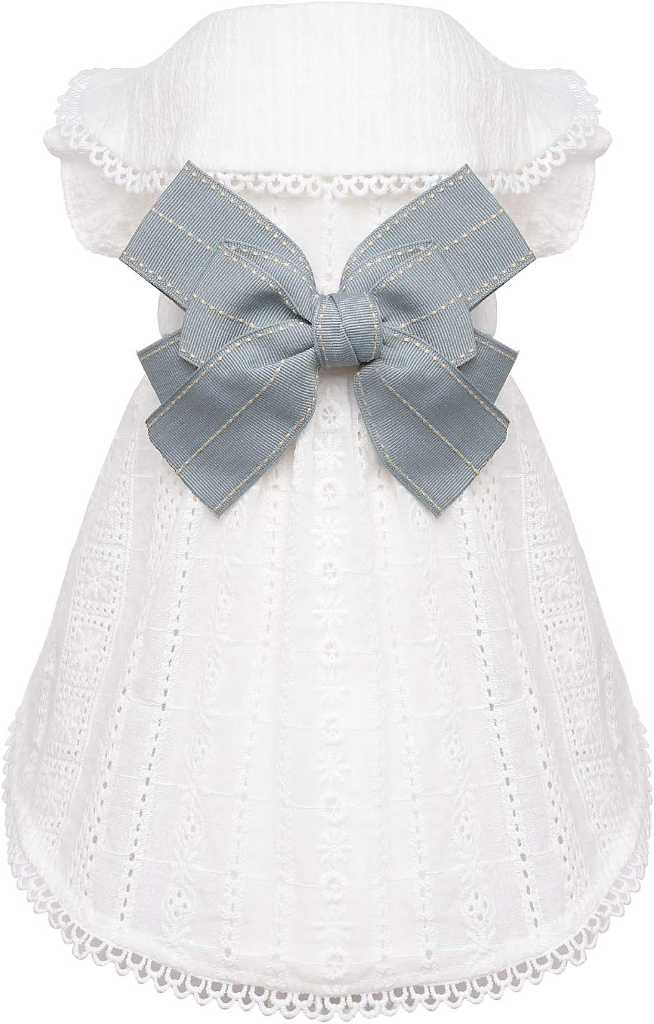 Pet Cotton Embroidered Back Bowknot Hollow Dresses D Tucson Mall for Out Cat Miami Mall