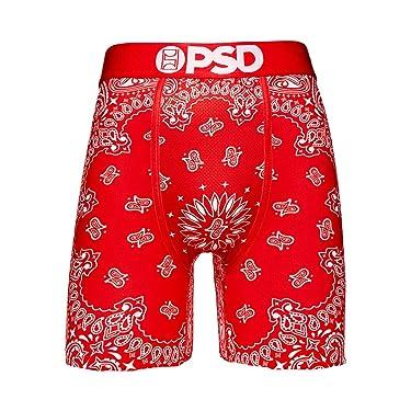 PSD Underwear Men's Red Bandana Boxer Brief Red