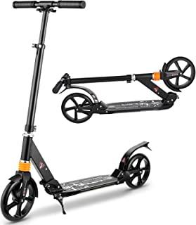 CAROMA Scooters for Kids Adults Teens 8 Years and up, Folding Kick Scooter with 3 Seconds Easy Folding System and 8inch Bi...