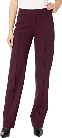 Ingrid Trousers Extended Tab in Super Stretch Ponte Knit