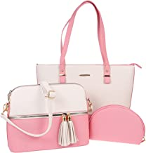 KESYOO Women PU Shoulder Bag Crossbody Bag Hand Purse Storage Bag Set (Assorted Color)