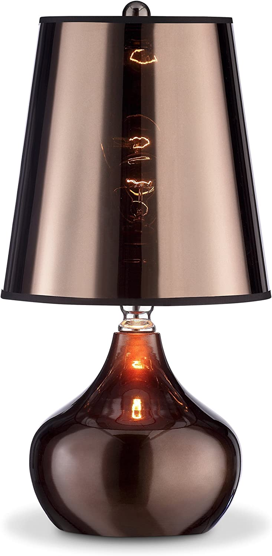 OK Lighting OK-818CP Luster Metallic Cappuccino 3-Way Table Touch Lamp, 9.25  x 9.25  x 18 , Brown, Espresso