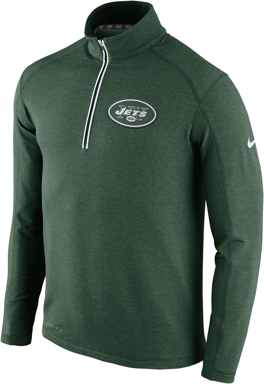 Nike Men's New York Jets HalfZip Drifit Jacket (S)