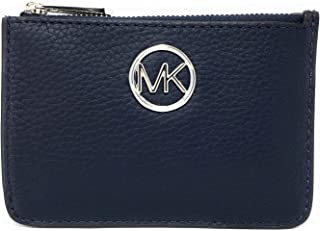 Michael Kors Fulton Small Top Zip Coin Pouch ID Card Case Wallet