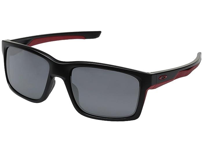 Oakley Mainlink (Matte Black/Black Iridium) Plastic Frame Fashion Sunglasses