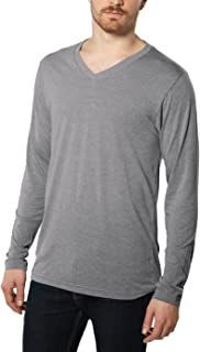Nayked Apparel Men's Weightless Long Sleeve V-Neck Shirt