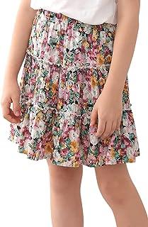 Sponsored Ad - GORLYA Girls Ruffle Floral Boho Flowy Cute Tiered Short Mini Skater Skirts 4-14T