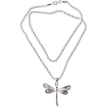 AFFY White Natural Diamond Accents Heart Pendant Necklace in 14k Gold Over Sterling Silver 0.01 Cttw