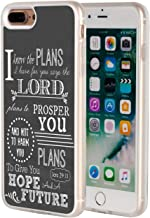 iPhone 8 Plus Case,iPhone 7 Plus Case,AIRWEE Clear Bumper Bible Verse Christian Quote Jeremiah 29:11 Pattern Anti-Scratch Slim Soft TPU Back Protective Cover Case for Apple iPhone 7/8 Plus