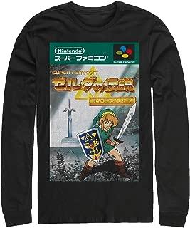 Nintendo Men's Legend of Zelda Japanese Cover Art Long Sleeve T-Shirt