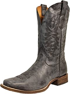 CORRAL A3255 Men's Vintage Black and Gray Embroidered Square Toe Boots