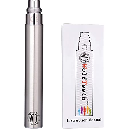 電子タバコ本体 1100mAh スターターキット EGO CE4アトマイザー対応 ニコチン無し ハイクオリティ 充電可能電池ペン ロック解除 WOLFTEETH 充電器別売り
