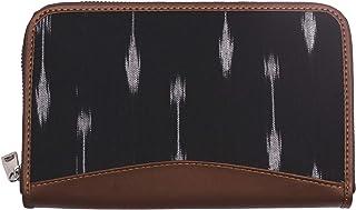 ZOUK Women's Handmade Vegan Leather and Wallet with Indian Ikat Arrow Print for Mobile Phones (Orange)