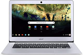 "Acer NX.GC2AA.016;CB3-431-C99D Traditional Laptop (Chrome OS, Intel Celeron N3060, 14"" LCD Screen, Storage: 16 GB, RAM: 4 GB) Silver"