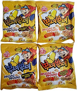 Ottogi Ppushu Ppushu Variety Pack - BBQ, Bulgogi, Grilled Chicken & Spicy Rice Cake Flavor 4 Pack