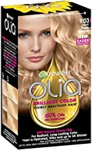 Garnier Olia Ammonia Free Permanent Hair Color, 100 Percent Gray Coverage (Packaging May Vary), 9.03 Light Pearl Blonde, Hair Dye Pack of 1