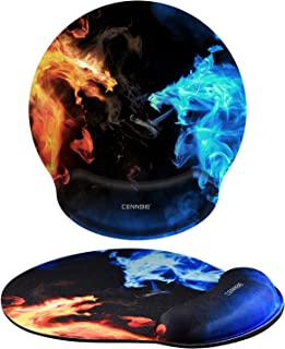 """CENNBIE Mouse Pad with Wrist Rest Nonslip Ergonomic Memory Foam Pain Relief Mousepad Desk Mat (9""""x10"""") for Office Gaming Computer Laptop at Home/Work"""