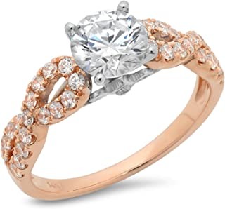 Best rose gold round halo engagement rings Reviews
