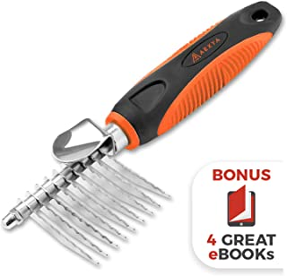 AEXYA - Premium Dog Dematting Comb - Undercoat Tangles Deshedding Tool for Cats and Dogs – Safe and Easy Mats Remover Rake