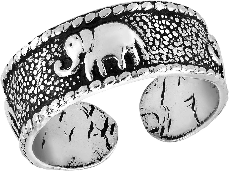 AeraVida Three Joyful Elephant .925 Ring Silver Toe Cheap super special Cheap price Sterling or