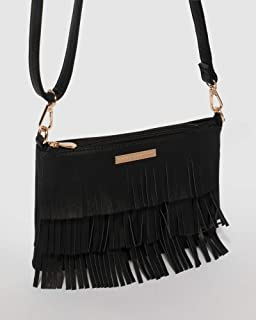 Black Raine Fringe Crossbody Bag