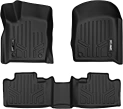 Full Set Liners Unique Black TPE All-Weather Guard Includes 1st and 2nd Row: Front Rear oEdRo Floor Mats Compatible for 2016-2020 Jeep Grand Cherokee//Dodge Durango