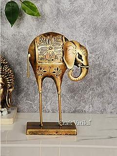 CraftVatika Metal Elephant Statue Tea Light Candle Holder Stand Decorative Showpiece for Home Living Room Desk Office Desk...