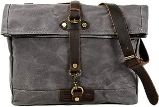 Muchuan Man Wax Canvas Outdoor Messenger Bag with Model Number 6060