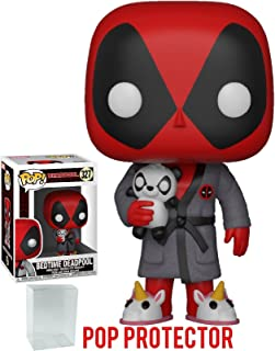 Funko Pop! Marvel X-Men: Deadpool Playtime - Bedtime Deadpool in Robe Vinyl Figure (Bundled with Pop Box Protector Case)