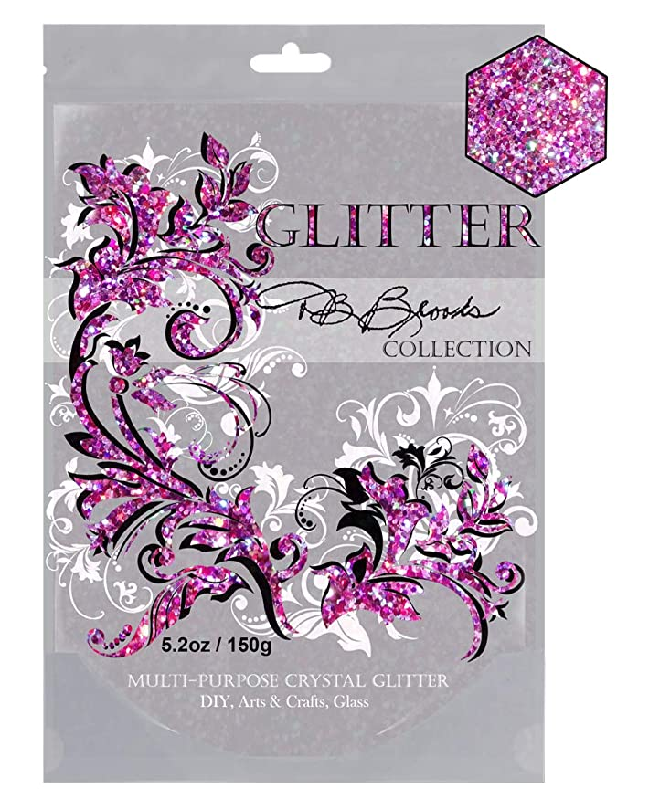 DB Brooks Collection (Pink/Violet Holographic) Glitter Paint Additive Hybrid Crystals. 150g/5.2oz Latex Acrylic Emulsion for Walls Ceilings Wood Furniture Frames