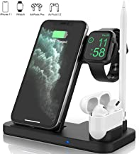 Updated Version 4 in 1 Wireless Charger, Apple Watch & AirPods & Pencil Charging..