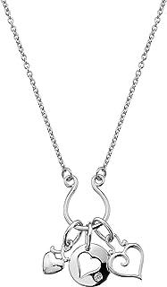 Lily & Lotty 标准纯银 0.01 克拉钻石心形项链 45cm