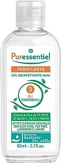 Puressentiel Antibacterial Gel 80 ml - Anti-bacterial, anti-viral, softening - 99.9% viruses and bacteria destroyed - Ant...