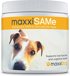 maxxidog - maxxiSAMe Advanced SAM-e Liver and Cognitive Function Supplement for Dogs - Given with Food - Powder 5.3 oz