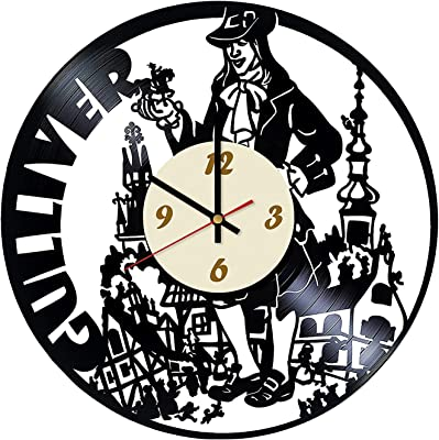 Gulliver Travels Vinyl Record Wall Clock/Original Gift Idea for Him or Her, Boys