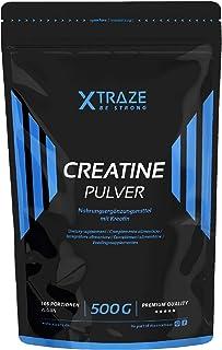 XTRAZE® Creatina Monohidrato en Polvo 500 g, Creatine Vegana 100% pura, Suplemento Deportivo sin Aditivos Innecesarios, pa...